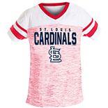 Girls 7-16 St. Louis Cardinals V-Neck Space Dye Jersey Tee