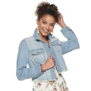 Juniors' Tinseltown Cropped Jean Jacket
