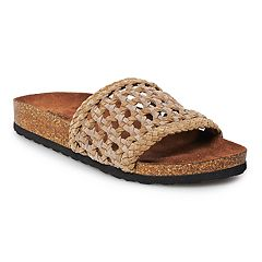 SONOMA Goods for Life™ Quilt Women's Leather Woven Sandals