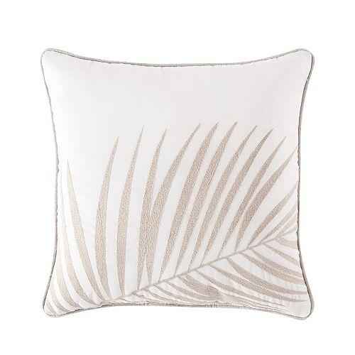 Palm Coastal Throw Pillow
