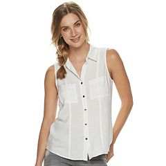 21944e6f Womens White Button-Down Shirts Shirts & Blouses - Tops, Clothing ...