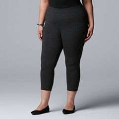 Plus Size Simply Vera Vera Wang Cotton Capri Leggings