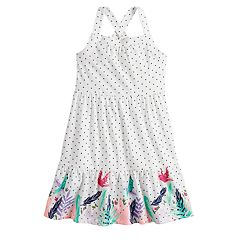 Toddler Girl Jumping Beans® Printed Ruffle-Hem Dress