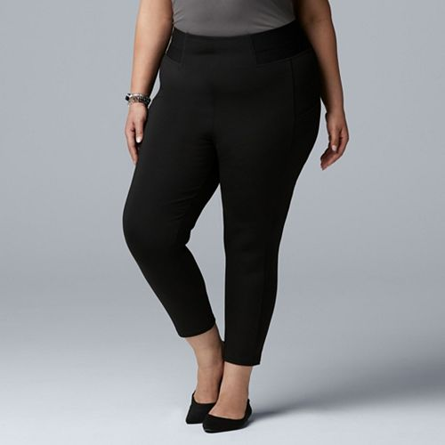 wholesale sales 100% genuine Good Prices Plus Size Simply Vera Vera Wang High Waist Hold All Capri ...