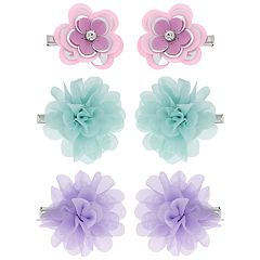 Girls Elli by Capelli 6-pack Flowers Clips