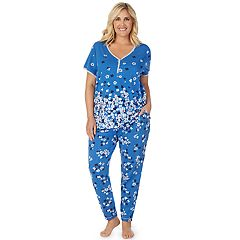 676de7a3173 Plus Size Cuddl Duds Sleep Henley & Pajama Pants Set