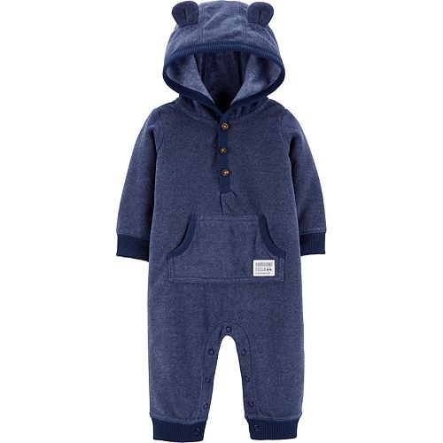 Baby Boy Carter's Bear Hooded Fleece Jumpsuit