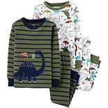 Baby Boy Carter's 4-Piece Dinosaur Snug Fit Cotton Pajama Set