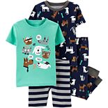 Baby Boy Carter's 4-Piece Dogs & Cats Snug Fit Cotton Pajama Set