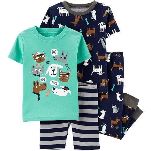 Baby Boy Carter's 4-Piece Dogs & Cats Snug Fit Cotton Pajama Set