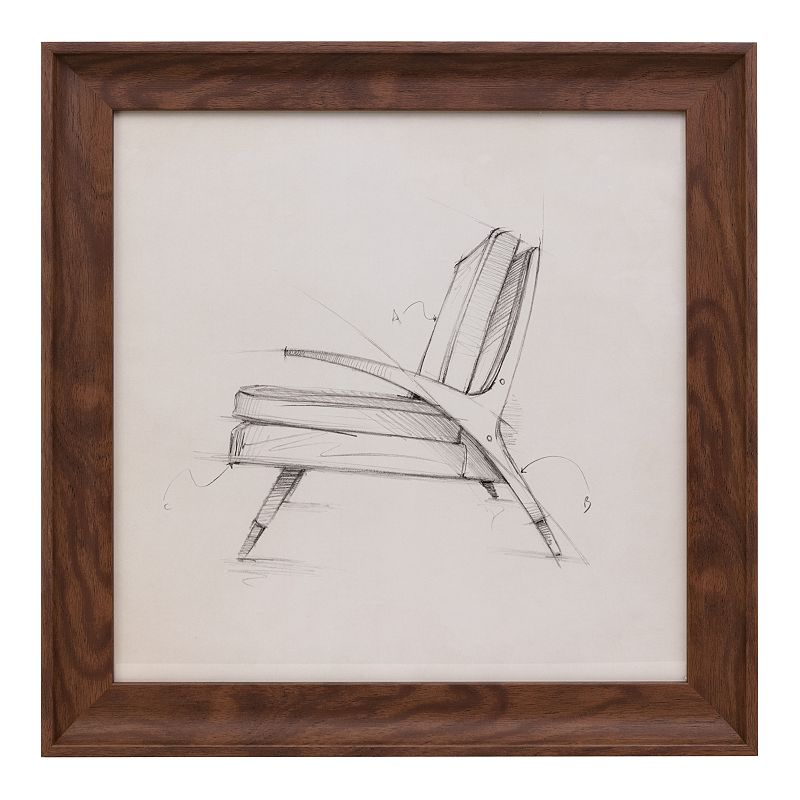 Kiera Grace Austin Erickson Chair Sketch Framed Wall Art, Brown