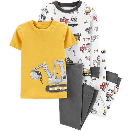 Baby Boy Carter's 4-Piece Construction Snug Fit Cotton Pajama Set