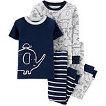 Baby Boy Carter's 4-Piece Elephant Snug Fit Cotton Pajama Set