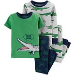 Baby Boy Carter's 4-Piece Alligator Snug Fit Cotton Pajama Set