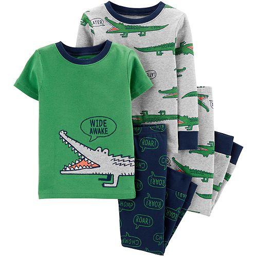 Baby Boy Carter's 4-Piece Alligator Snug Fit Cotton Pajama Set