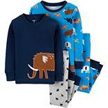 Baby Boy Carter's 4-Piece Animals Snug Fit Cotton PJs