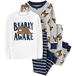Baby Boy Carter's 4-Piece Bear Snug Fit Cotton Pajama Set