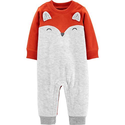 Baby Boy Carter's Fox Fleece Jumpsuit