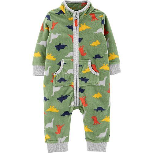 Baby Boy Carter's Dinosaur Zip-Up Fleece Jumpsuit
