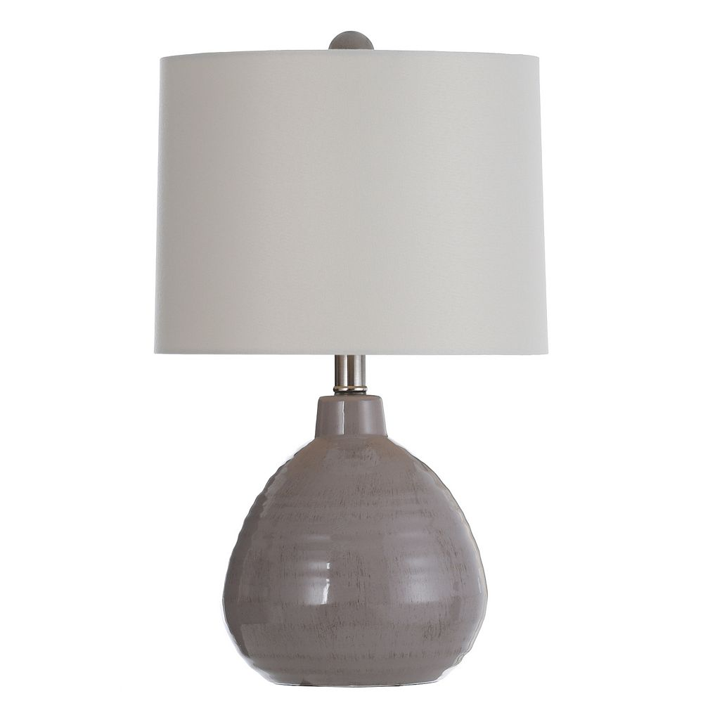 Gray Finish Accent Table Lamp