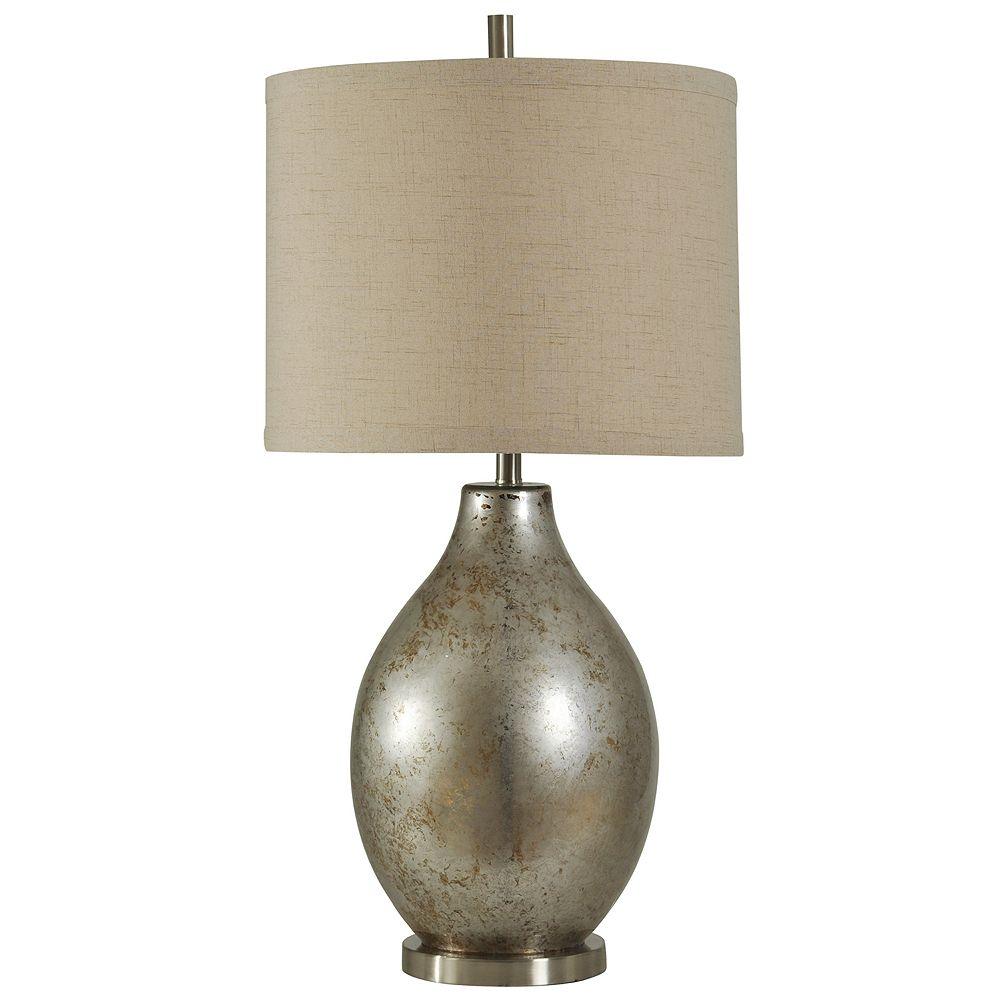 Mercury Glass Finish Table Lamp