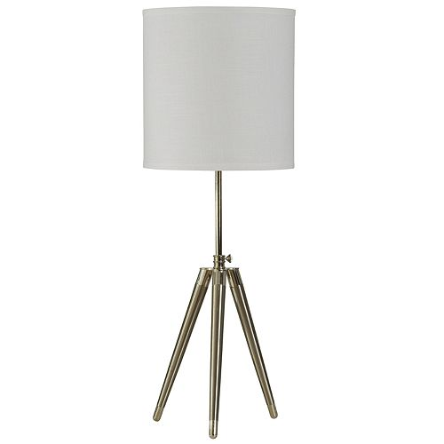 Brushed Steel Tripod Table Lamp