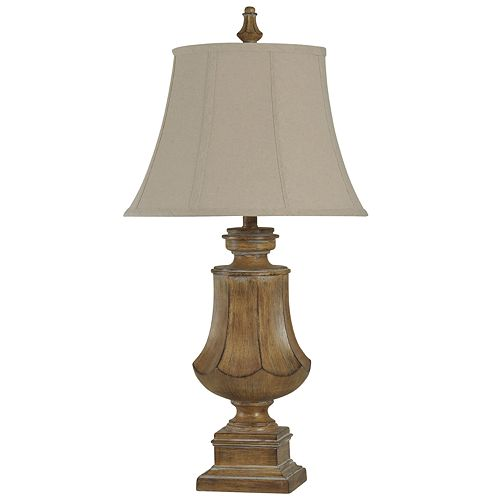Traditional Rustic Wood Finish Table Lamp
