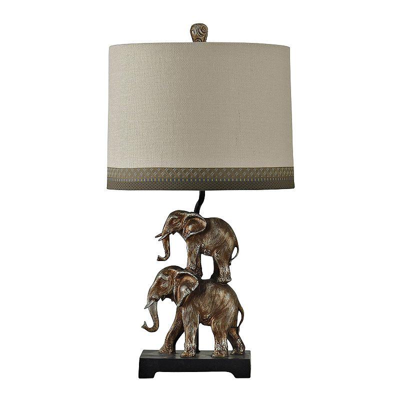 Kolkata Elephant Table Lamp, Grey