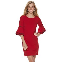 9c5cff52fa Women s Sharagano Ribbon-Trim Bell-Sleeve Dress