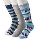 Men's Red, White & Crew 3-pack Patterned Crew Socks