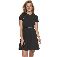 Women's Sharagano Belted Fit & Flare Dress