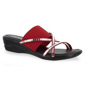bdbb31636a19 Eastland Laurel Women s Thong Wedge Sandals