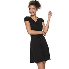 a006f03e56b9 Juniors  Mudd® Short Sleeve Cinch Front Dress