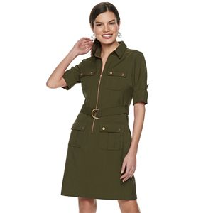 c27f325ff7a Women s Sharagano Cargo Faux-Wrap Shirt Dress. Sale