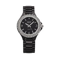 burgi Women's Diamond Accent Ceramic Watch