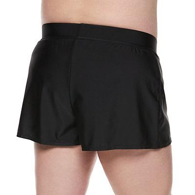 Plus Size EVRI Tummy Slimmer Drawstring Swim Shorts