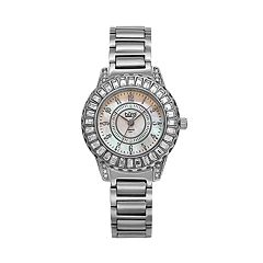 burgi Women's Crystal & Diamond Accent Watch