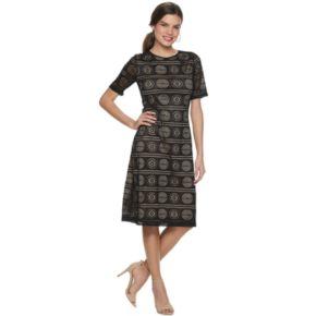 Women's Sharagano Lace Sheath Dress