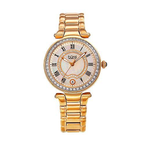 burgi Women's Crystal Accent Watch