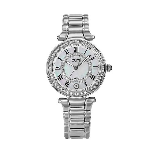 burgi Women's Crystal Accent Watch