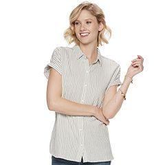 c46e626f Womens Button-Down Shirts Short Sleeve Shirts & Blouses - Tops ...