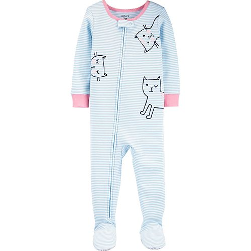 Baby Girl Carter's Cat Footed Pajamas