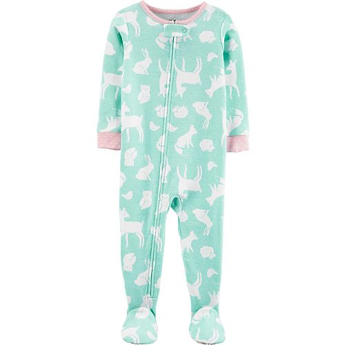 Baby Girl Carter's Woodland Creatures Footed Pajamas