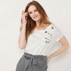 NEW! Women's LC Lauren Conrad Graphic Tee