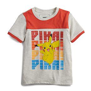 "Boys 4-12 SONOMA Goods for Life? Pokemon Pikachu ""Pika!"" Retro Graphic Tee"