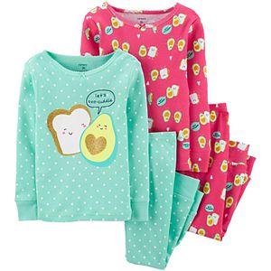 Baby Girl Carter's 4-Piece Avocado Toast Snug Fit Cotton PJs