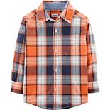 Baby Boy Carter's Orange Plaid Woven Top