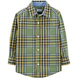 Baby Boy Carter's Green Plaid Woven Top