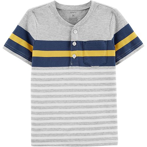 Baby Boy Carter's Navy Stripe Henley