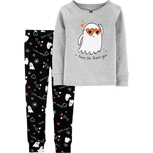 Carters Baby Girls Holiday 2-Piece Snug Fit Cotton PJs